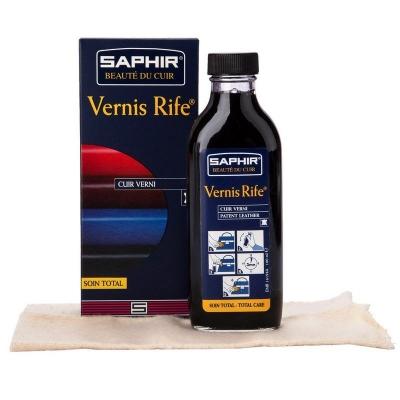 Полироль для лаковой кожи, SAPHIR Vernis rife стеклянный флакон 100 мл, цвета в ассортименте