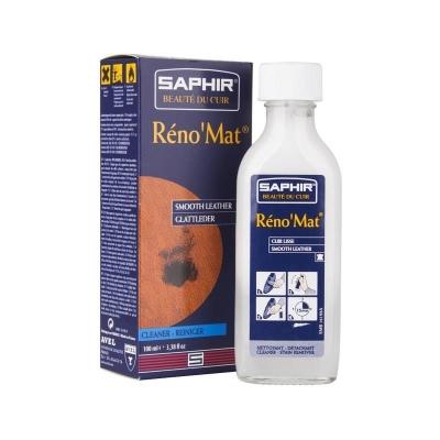 Очиститель для гладкой кожи SAPHIR RENO Mat, стекл.флакон, 100мл.
