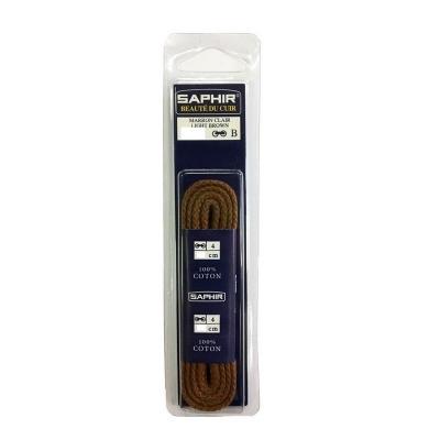 Шнурки Хлопковые Saphir 45см. Круглые Толстые. (Цвета в ассортименте)