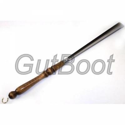 Ложка для обуви длинная, с деревянной ручкой