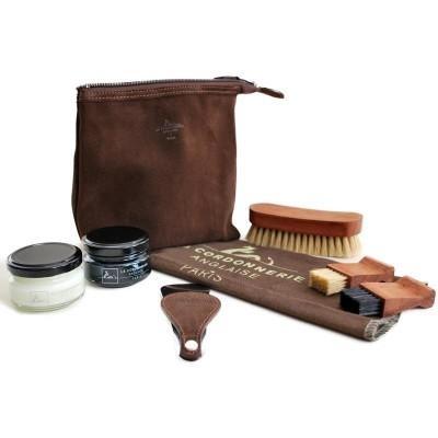 Набор для чистки обуви подарочный в замшевой сумочке LA CORDONNERIE ANGLAISE