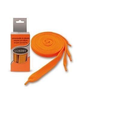 Шнурки 90см. Плоские  (оранжевые)