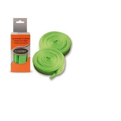 Шнурки 120см. Плоские  (зеленые)