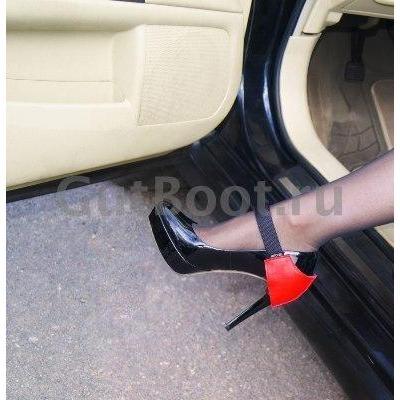 """Aвтoпяткa АutоНееl  """"Бантик на пятке""""  нa женскую обувь для защиты каблука, зacтёжкa ремешок липyчкa, цвета в ассортименте"""