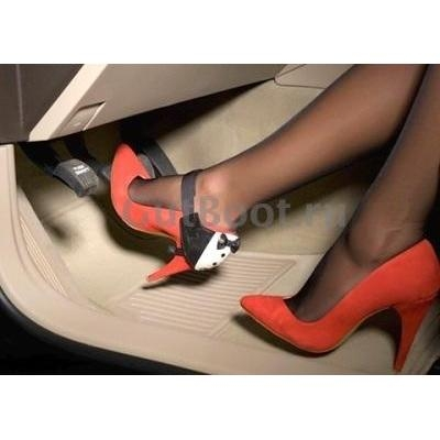 """Автопятка AutoHeel Эксклюзив """"АПЛИКАЦИЯ ФРАК малый"""" для женской обуви без каблука, застёжка ремешок липучка, одна штука"""