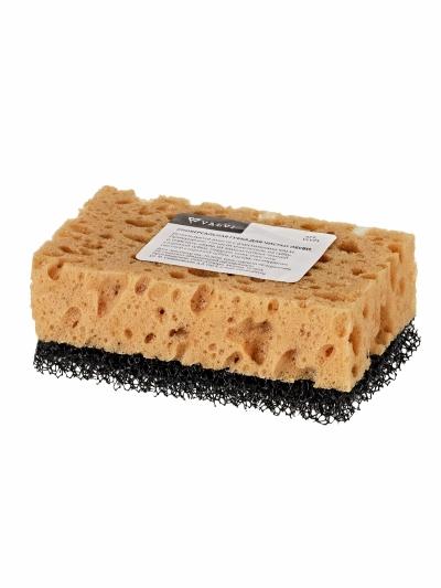 Губка для чистки обуви с применением пенных очистителей и мыла