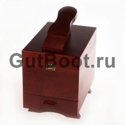 Ящик деревянный с подставкой для ноги