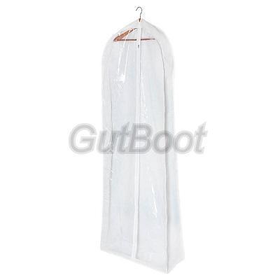 Чехол в белом цвете. Объемный для свадебных и вечерних платьев