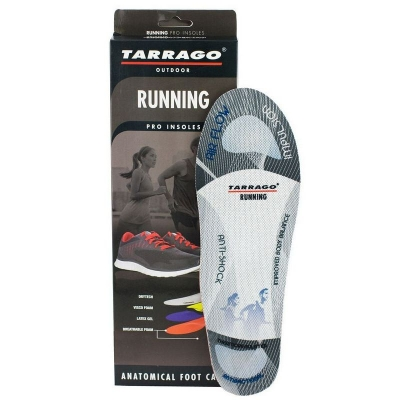 Профессиональные анатомические стельки  для Бега TARRAGO RUNNING, размерный ряд 37-47 р.