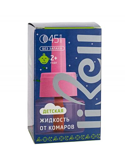 Жидкость от комаров для детей, без запаха, 45 ночей Libell