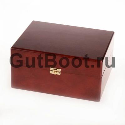 Ларец деревянный подарочный, с набором средств по уходу за обувью SAPHIR