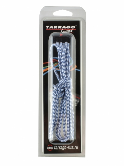 Шнурки регулируемые, эластичные, цвет сине-белый, 100см