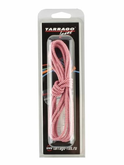 Шнурки регулируемые, эластичные, цвет красно-белый, 100см