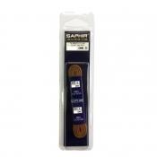 Шнурки Хлопковые Saphir 60см. Круглые Тонкие. С восковой пропиткой (Черные)