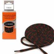 Шнурки круглые Треккинговые черно-красные 150 см