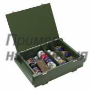 Деревянный ящик подарочный, военного образца, для хранения средств и аксессуаров по уходу за обувью